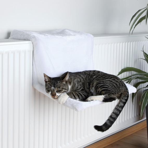 Гамак на батарею для кошек, белый (Trixie, 4321)
