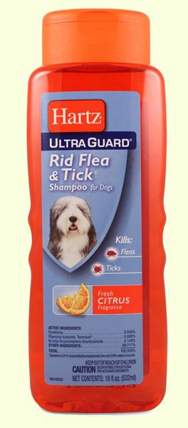 Шампунь для собак от блох и клещей Hartz Rid Flea Dog Shampoo Fresh Citrus