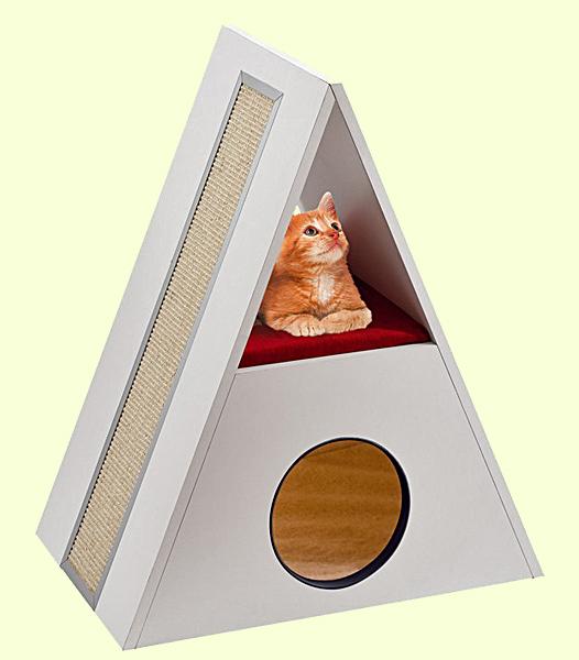 Домик-когтеточка для котят Ferplast Merlin
