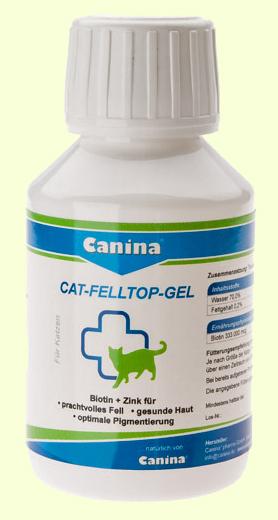 Витамины для кошек с проблемной шерстью Canina Cat Felltop Gel