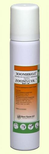 Аэрозоль при проблемах кожи у собак и кошек Зоомиколь