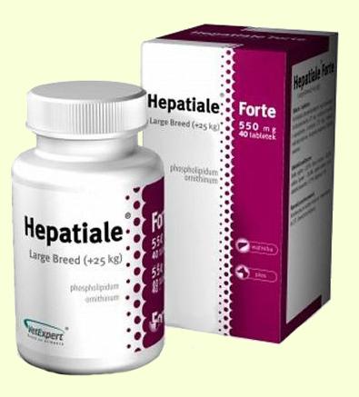 VetExpert Hepatiale Forte 550 Large Breed препарат для поддержки печени у собак крупных пород