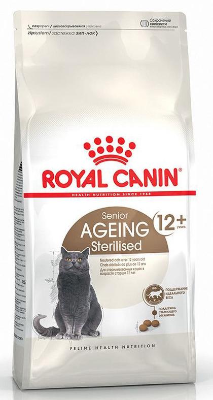 Корм для пожилых стерилизованных кошек Royal Canin Sterilised 12+