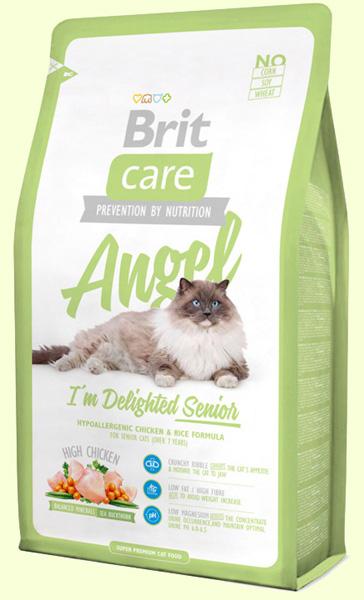 Корм для пожилых кошек с курицей и рисом Brit Care Cat Angel Senior