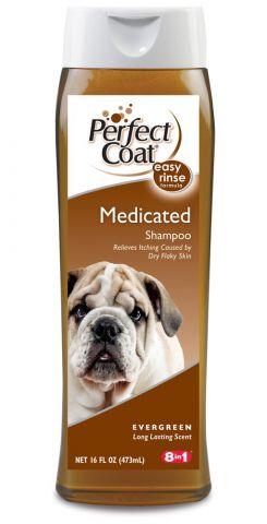8 in1 Medicated Shampoo Шампунь лечебный для сухой кожи у собак