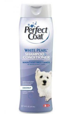 8 in1 White Pearl Шампунь с кондиционером для собак со светлой шерстью