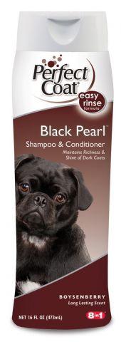 8 in 1 Perfect Coat Black Pearl Shampoo & Conditioner Шампунь-кондиционер для собак с темной шерстью