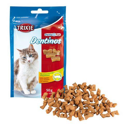 Trixie - 4266 Denta Fun Dentinos Лакомства для кошек. Упаковка - 50гр