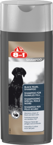 Шампунь для собак с тёмной шерстью 8in1 Black Pearl