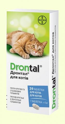 Антигельминтики Дронтал (Drontal) Таблетки от глистов