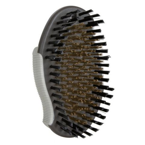 Trixie Массажная щетка пластиковая овальная (щетина+резина+медь)