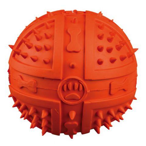 Trixie Toy Ball Игрушка для собак мяч с пищалкой + шипы (резина) TX - 34841
