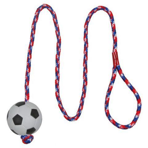 Trixie - 3307 Игрушка для собак футбольный мяч на веревке 1м