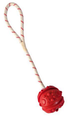 Trixie - 33481 Игрушка для собак мяч резиновый на канате с пелей 4,5/35см
