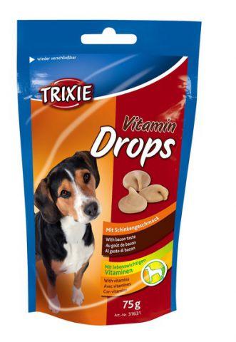 Trixie - 31631 Vitamin Drops  Дропсы для собак с кусочками бекона
