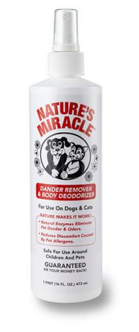Nature's Miracle  Dander Remover & Body Deodorizer Спрей - дезодорант от перхоти и неприятного запаха для собак и кошек