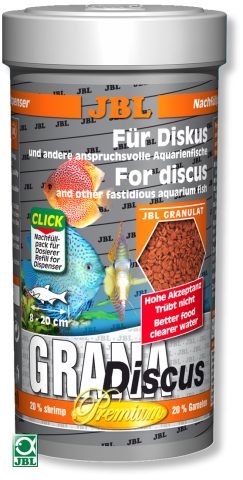 Сухой корм для рыб JBL Grana Discus Premium - гранулы
