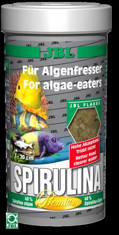 Сухой корм для рыб JBL Spirulina - хлопья