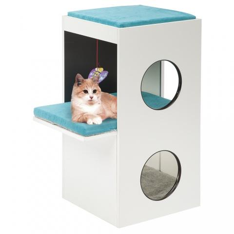 Домик-когтеточка для кошек Ferplast Blanco
