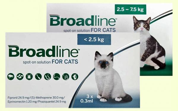 Merial Broadline Spot-On капли от блох, клещей и глистов для кошек (Бродлайн)