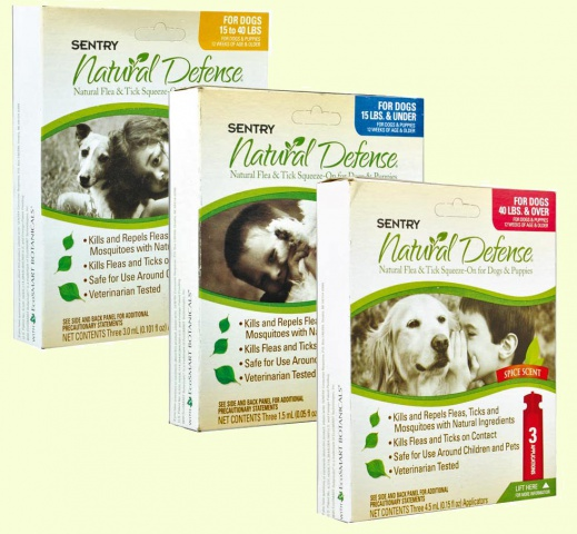 Sentry Natural Defense натуральные капли от блох и клещей для собак и щенков