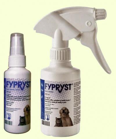 Спрей от блох и клещей для собак и кошек KRKA Fiprist (Фиприст)