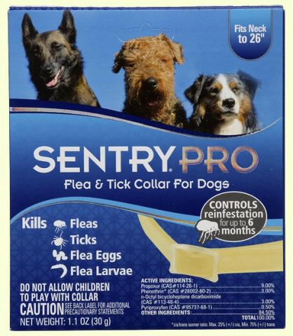 Sentry Pro Ошейник от блох и клещей для собак - 56 см