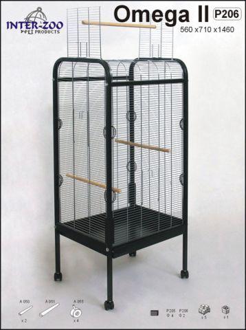 Клетка - вольер для больших и средних попугаев InterZoo Омега 2