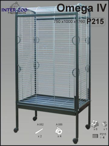 Клетка - вольер для больших и средних попугаев InterZoo Омега 4