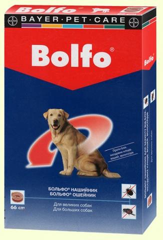 Bayer Bolfo Больфо ошейник для средних собак от блох и клещей