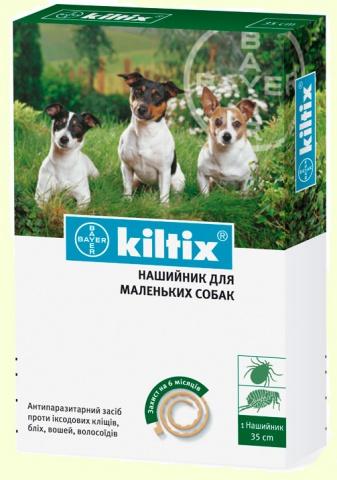 Bayer Kiltix (Килтикс) ошейник от клещей и блох для собак малых пород (35см)