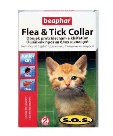BEAPHAR S.O.S. Fleacollar Kitty — Ошейник для котят против блох