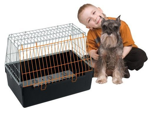Ferplast (Ферпласт) Atlas Vision SMALL Клетка перевозка для мелких собак с открытым верхом