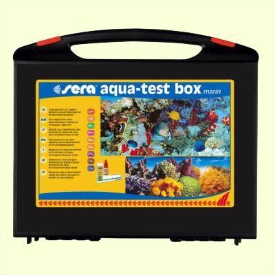 sera aqua test box marin - расширенный набор тестов для воды для морских аквариумов