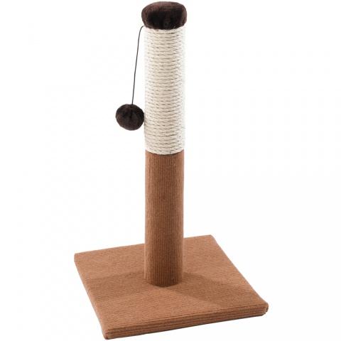 Ferplast PA 4014 Напольная когтеточка стобик для кошек с игрушкой