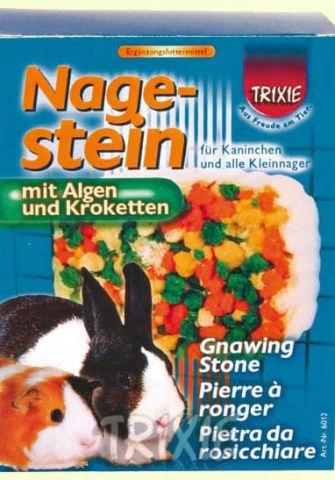 TRIXIE (Трикси) - 6012 Gnawing Stone with Algae and Croquettes Мел для кролика и морской свинки с морскими водорослями