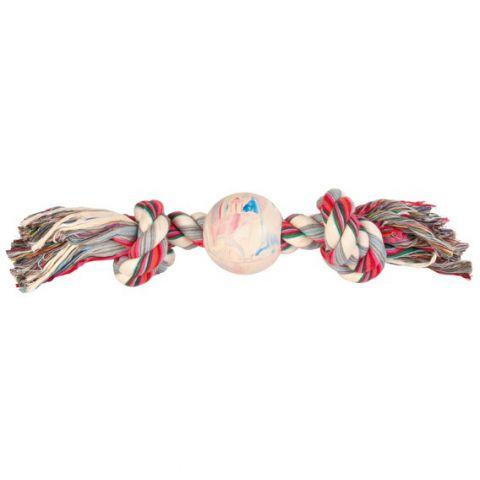 Trixie - 3267 Игрушка для собак Канат с мячом
