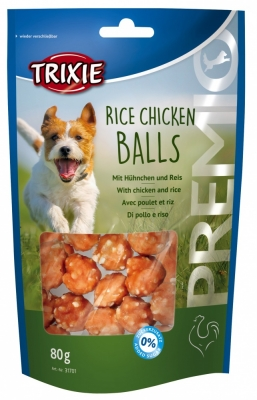Trixie - 31701 Чипсы для собак Premio Rice Chicken Balls (курица)