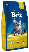 Корм для кошек с лососем Brit Premium Adult Salmon